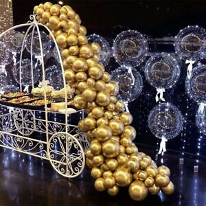 Gold Metallic Garland Arch Balloons Set Birthday Anniversary Party Decoration