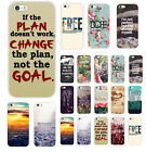 New Quote & Saying Painted Pattern Back Case Cover For iphone 4S 5 5S 5C 6