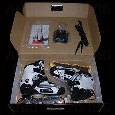 New listing SEBA HiGH DELUXE 2010 SLALOM iNLiNE ROLLER SKATES WHiTE BLACK BLUE EUR 42 US 9