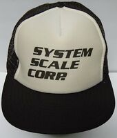 Vtg 1990s SYSTEM SCALE CORP Weights Measure ADVERTISING SNAPBACK HAT TRUCKER CAP