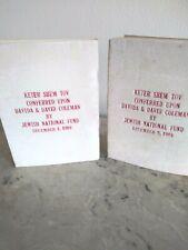 Jewish Hebrew Pocket Prayer Booklets Jewish National Fund 1968
