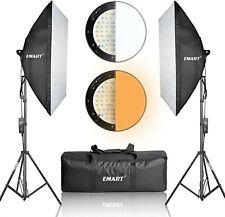 Emart Set de iluminaci/ón para fotograf/ía de Mesa 60 cm x 60 cm 24 x 24
