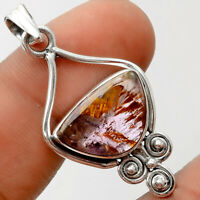Cacoxenite Super Seven 7 Mineral 925 Sterling Silver Pendant Jewelry SDP60137