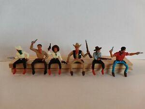 Lot soldats anciens starlux cavaliers Cowboys farwest figurines 1/32