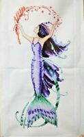 """NEW Finished completed Needlepoint Cross stitch""""Mermaid""""Decor gifts C40"""