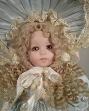 "French Jumeau Vintage 1996 Patricia Loveless Porcelain Doll 18"" Blonde Blue Dres"