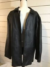 Britches Mens Leather Jacket, Clothing For Life, Black Size XL