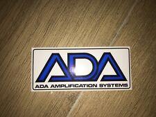 ADA LOGO Graphic Emblem DECAL STICKER MP1 MP2 MB1 MQ1 GUITAR PREAMP CASE RACK