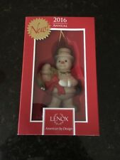 "Lenox ""2016 Happy Holidays Snowman"" Ornament - New In Box"
