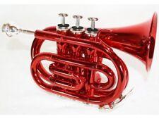 Trompette De Poche Sib Rouge Avec Etui Rigide