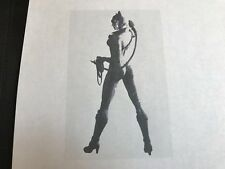 Multilayer Aerografo Stencil Cat Woman
