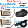 2pcs 650mAh Battery For Sena 10S 20S EVO Motorcycle Bluetooth Helmet Headset