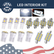 14X White T10 & 31mm LED Interior Package Kit Map Dome License Plate Light Bulb