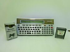 Vintage Sharp PC- 1500 Pocket Computer with CE- 151 Memory Module