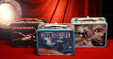 Original vintage STAR WARS Set of 3 LUNCH BOXES, 1 Thermos, Good Condition