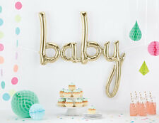 Gold Baby shower Balloon Word Banner Letters Decoration USA made NorthStar brand