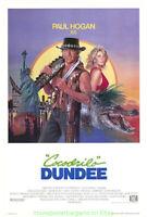 CROCODILE DUNDEE MOVIE POSTER 27x41 PAUL HOGAN 1986 INTERNATIONAL VERSION ROLLED