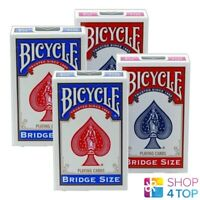 4 DECKS BICYCLE RIDER BACK BRIDGE SIZE 2 BLUE 2 RED PLAYING CARDS NEW