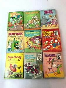 """NINE ( 9)"""" A BIG LITTLE BOOK"""" ROAD RUNNER BUGS DONALD WOODY DAFFY +++ 1970's 80s"""