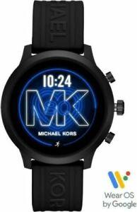 Michael Kors  Access MKGO Smartwatch 43mm Aluminum Black MKT5072 Black Band