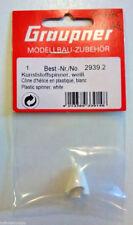 GRAUPNER 14mm White Plastic Spinner #2939.2 NEW RC Part