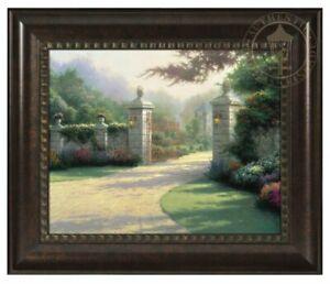 Thomas Kinkade Summer Gate 16 x 20 Brushstroke Vignette (Framed)