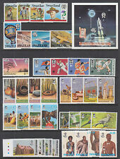 Swaziland Sc 418//714 MNH. 1982-2002 issues, 12 complete sets, VF
