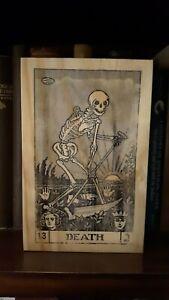 Rustic Pine Sign Death Tarot Card