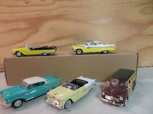 SET OF 5 (1:43 / O SCALE) AUTOS CARS FOR YOUR K-LINE LIONEL MTH LAYOUT LOT E