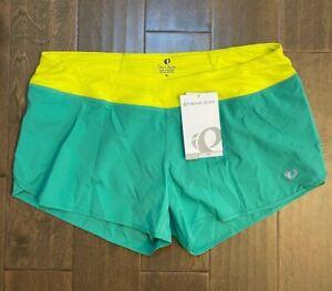 PEARL IZUMI Women's Green Yellow Fly Split Short Gumdrop Cycling Short XL NWT