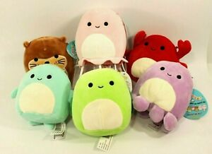 """Squishmallow 5"""" Sea Life Squad Crab, Jellyfish, Dolphin, Otter, Turtle, Octopus"""
