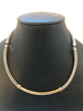 DAVID YURMAN 925 STERLING SILVER CABLE COLLECTION CHOKER NECKLACE