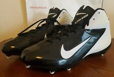 BRAND NEW NIKE AIR ALPHA SPEED MENS SIZE 15 FOOTBALL BASEBALL CLEATS BLACK WHITE