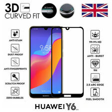 For Huawei Y6 (2019) Full 3D Tempered Glass 9H Screen Protector Cover Black Edge