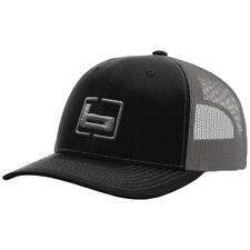 BANDED GEAR BLACK WITH CHARCOAL MESH BACK TRUCKERS HAT