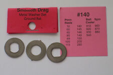"SMOOOOTH DRAG METAL DRAG WASHERS GROUND FLAT SET FITS PENN 140 & MORE ""LOOK"""