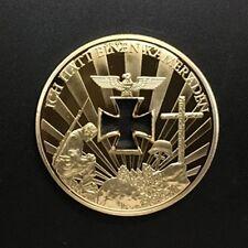 GERMANY DEUTSCHLAND NIEMALS VERGESSEN  DEN GEFALLENEN  24 CARAT GOLD PLATED COIN