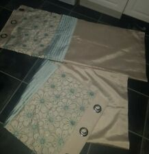 Dunelm Fabulous LINED EYELET CURTAINS SIZE 90in Width X 54in Drop, New