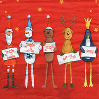4 Motivservietten Servietten Napkins Tovaglioli 33x33cm Weihnachten (1042)