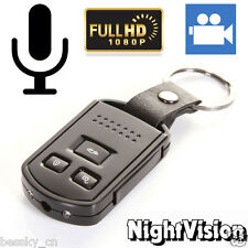 HD 1080P Metal Car Key Chain Mini Camera DVR Motion Detection IR Cam
