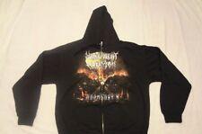 MALEVOLENT CREATION doomsday X ZIP HOODIE size LARGE, Inquisition, Urgehal,