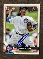 Adbert Alzolay Signed 2018 Bowman 1st Baseball Card RC Autographed Auto Cubs