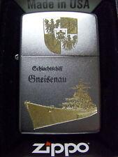 Zippo Sturmfeuerzeug Schlachtschiff Gneisenau High End Gravur