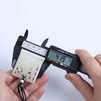 150mm 6inch LCD Digital Electronic Carbon Fiber Vernier Caliper Gauge Micr VRJ