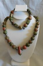 Earrings by Healing Light Stones Handcrafted Unakite Necklace, Bracelet and