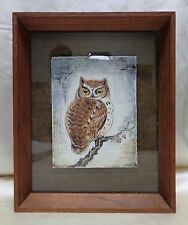 "Beautiful James Cassell ""Owl on Tree Branch"" Painting w. Antique Wooden Frame"