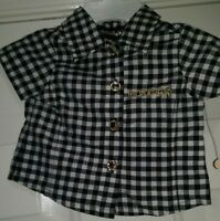 Mecca NWT Girls Multi Color Plaid Button Down Shirt Top Blouse Size 0 to 3 Month