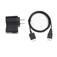 USB AC Power Charger Adapter+PC Cord For Sony NWZ-S615 F NWZ-S616 F NWZ-S618 F