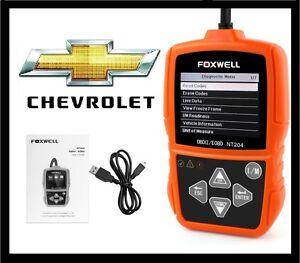 CHEVROLET CAR OBD2 CHECK ENGINE LIGHT CODE READER SCANNER DIAGNOSTIC SCAN TOOL