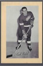 1944-63 Beehive Group II Detroit Red Wings Hockey Photos #207 Earl Reibel